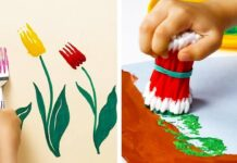 Activities That Can Be Done at Home with Young Children, separating colors, painting various objects, guessing games | Lives In Style